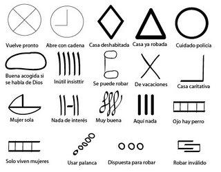 Simbolos que usan para robar